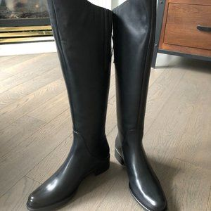 Duo Boots classic black leather riding boots sz 40